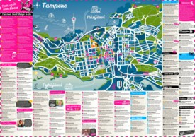 Tampere tourist map