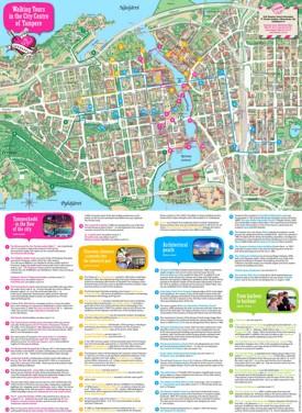 Tampere walking map