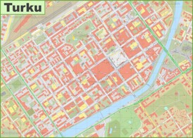 Turku city center map