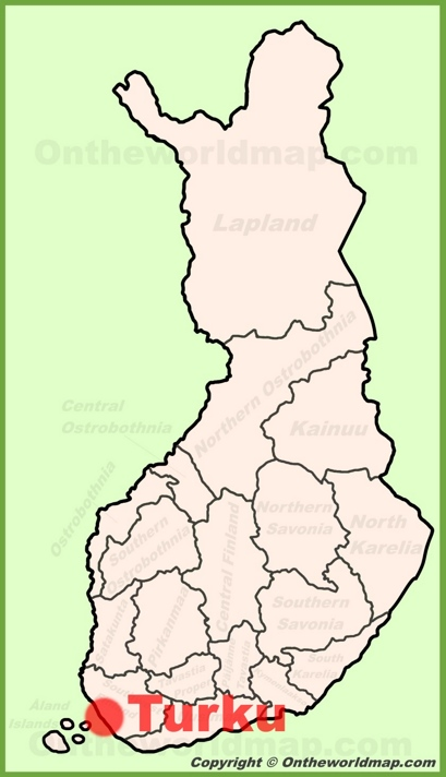 Turku Location Map