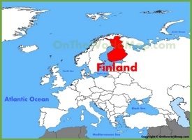 Finland location on the Europe map