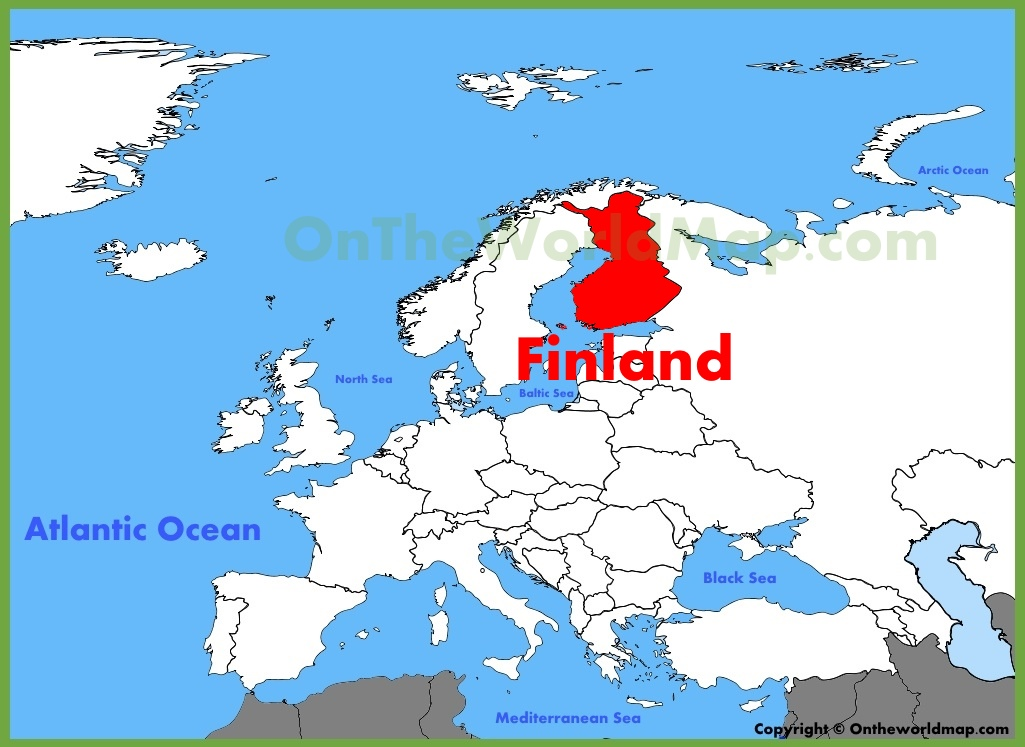Finland location on the europe map finland location on the europe map gumiabroncs Choice Image