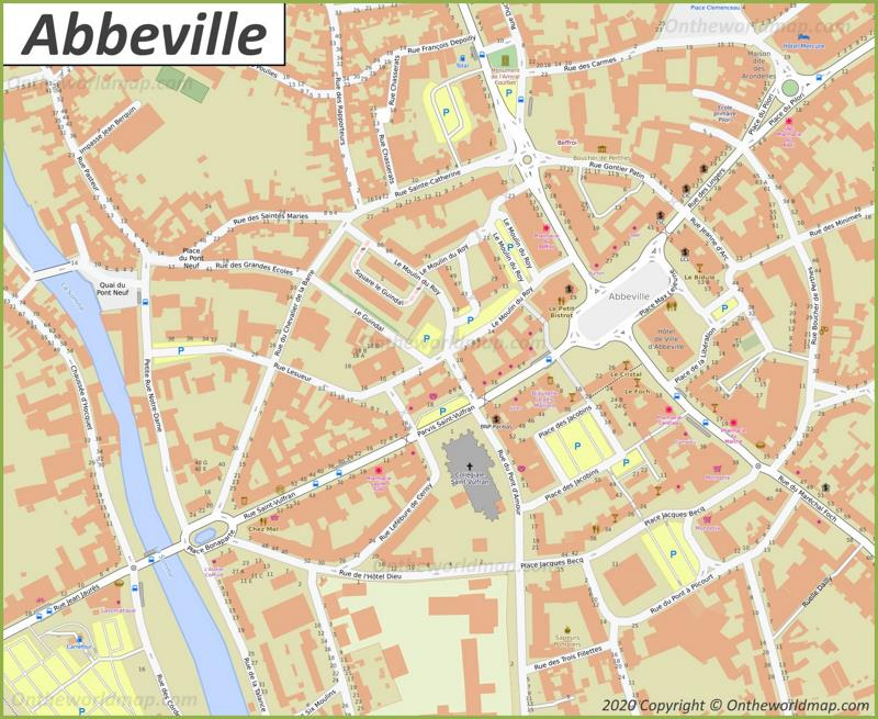 Map of Abbeville
