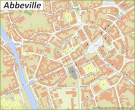 Abbeville City Center Map