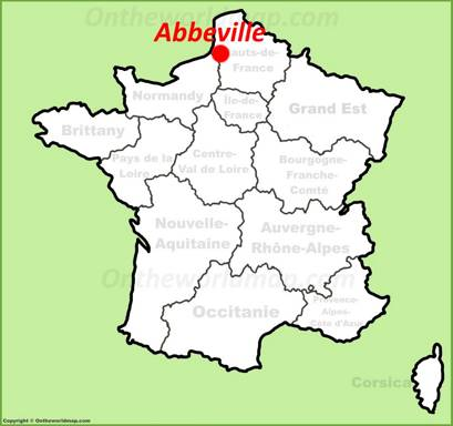 Abbeville Location Map