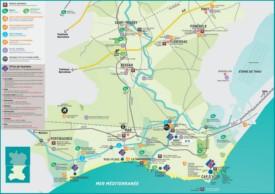 Agde area map