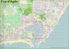 Cap d'Agde map