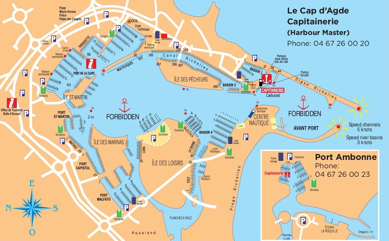Cap dAgde port map