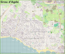 Grau d'Agde map
