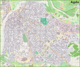 Agde Maps France Maps of Agde