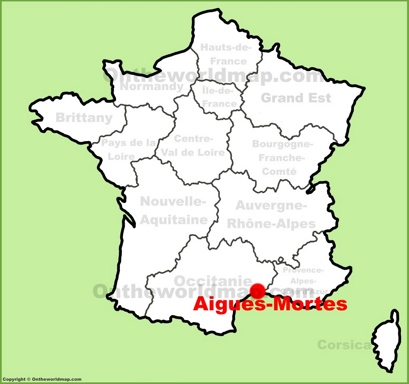 Aigues-Mortes Location Map