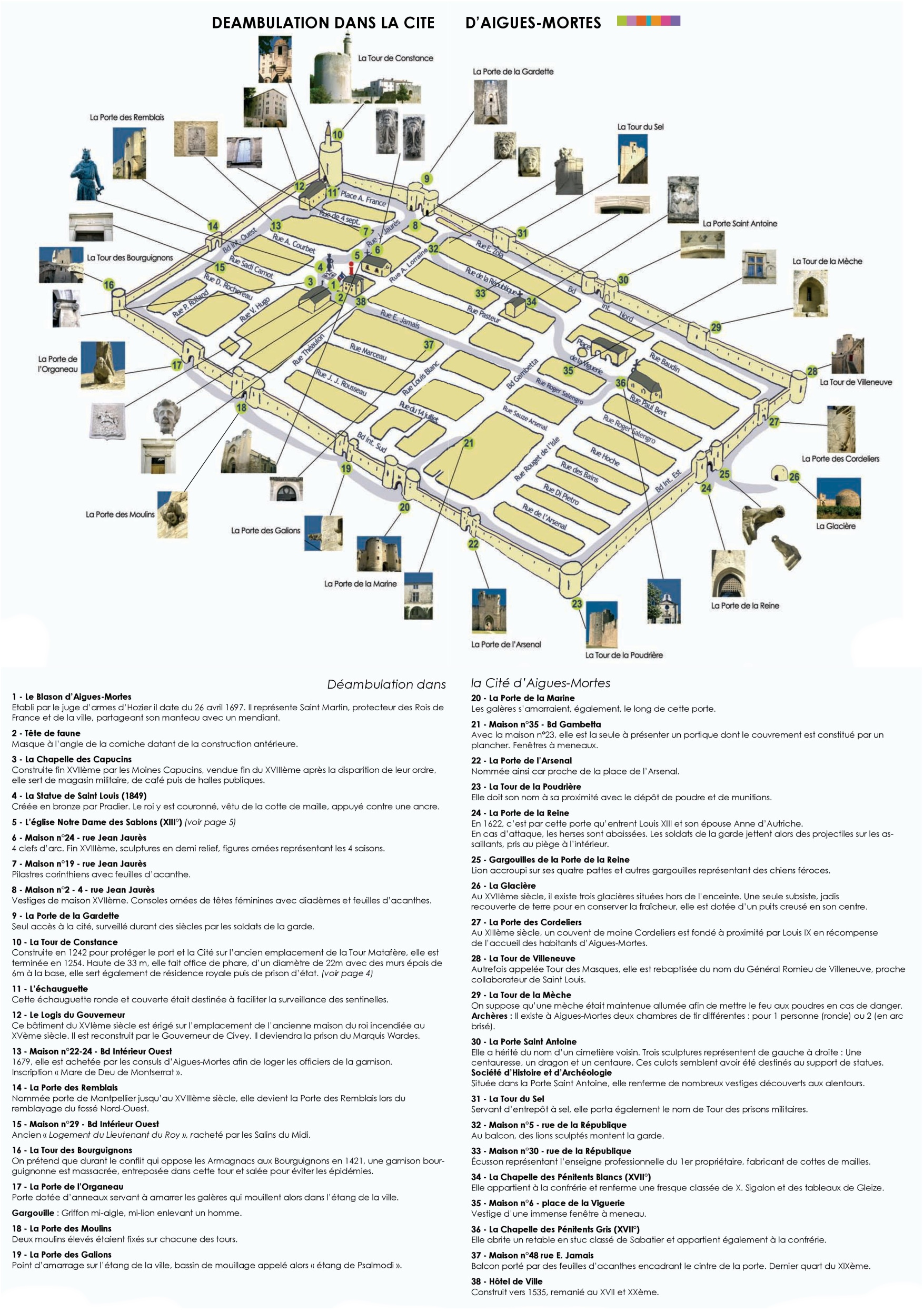 AiguesMortes old town map