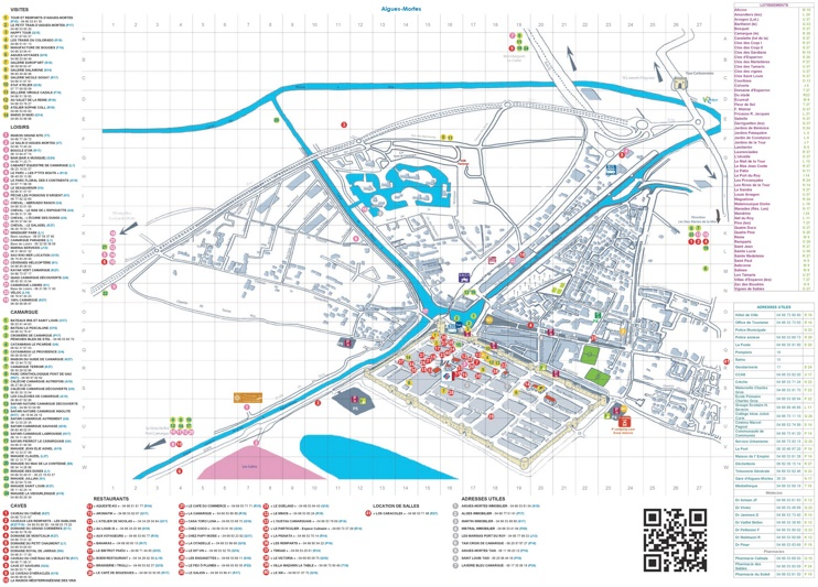 Aigues-Mortes tourist attractions map