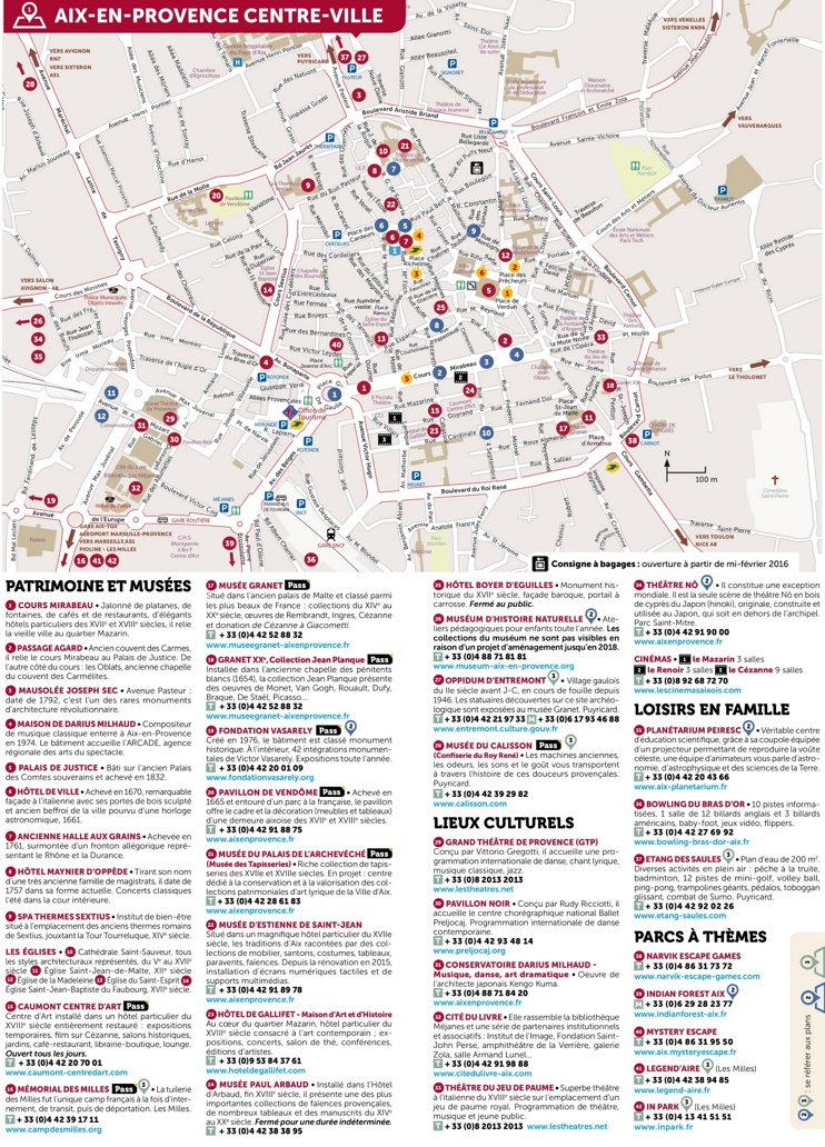 Aix-en-Provence city center map