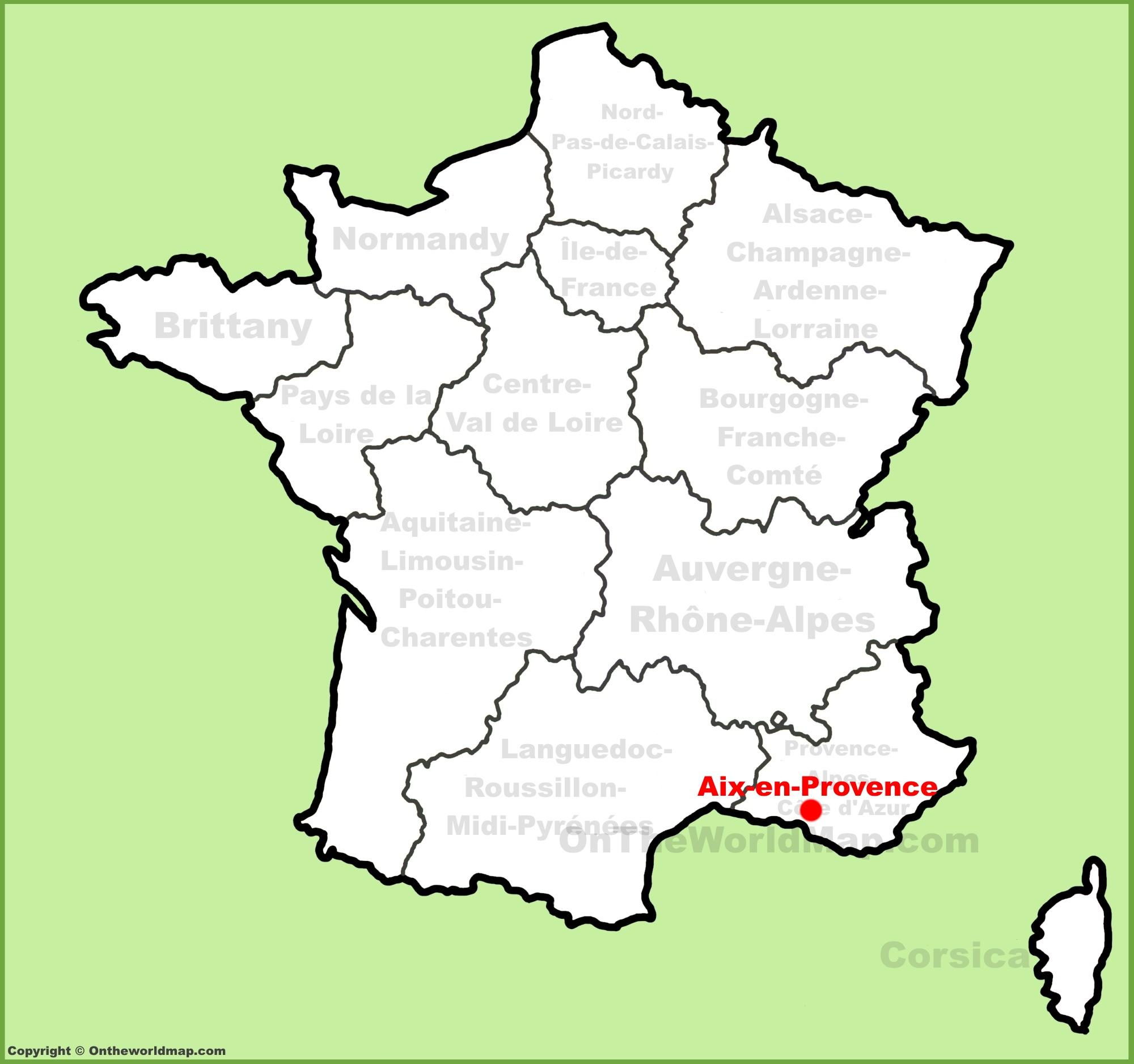 Aix En Provence Map Aix en Provence location on the France map Aix En Provence Map