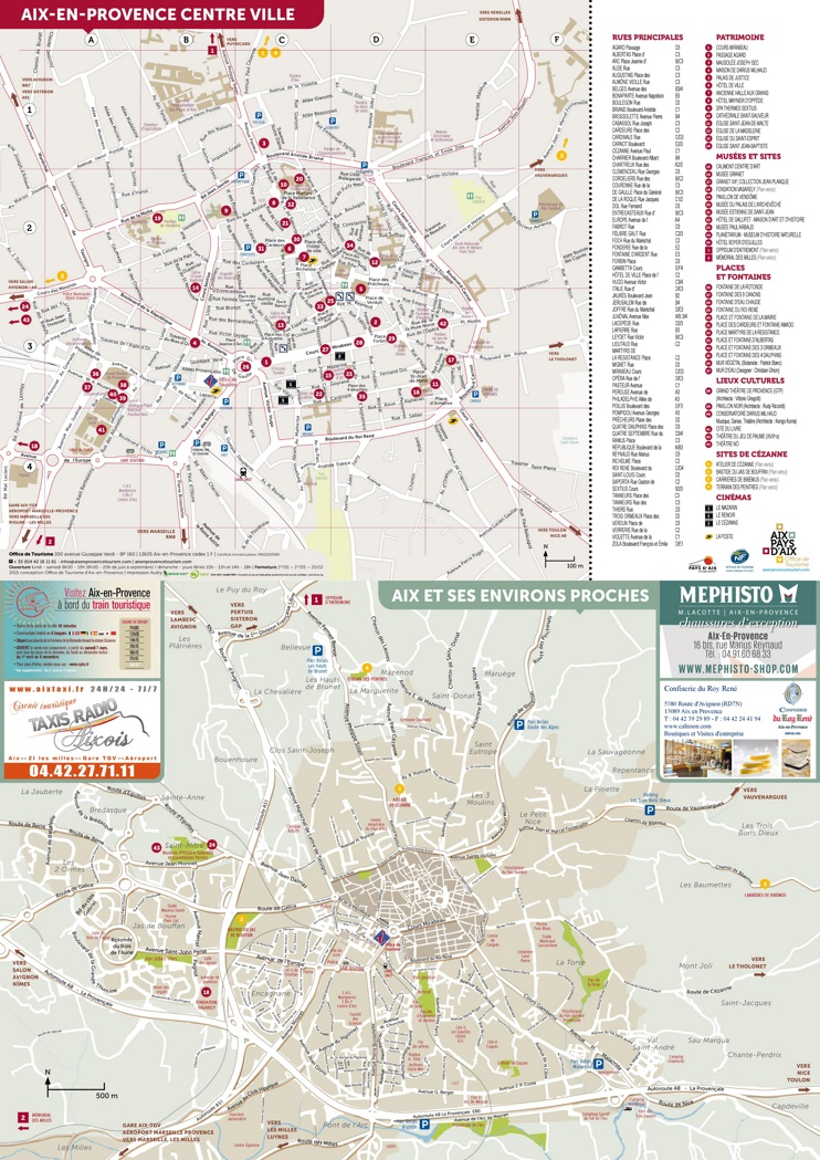 Aix-en-Provence tourist map