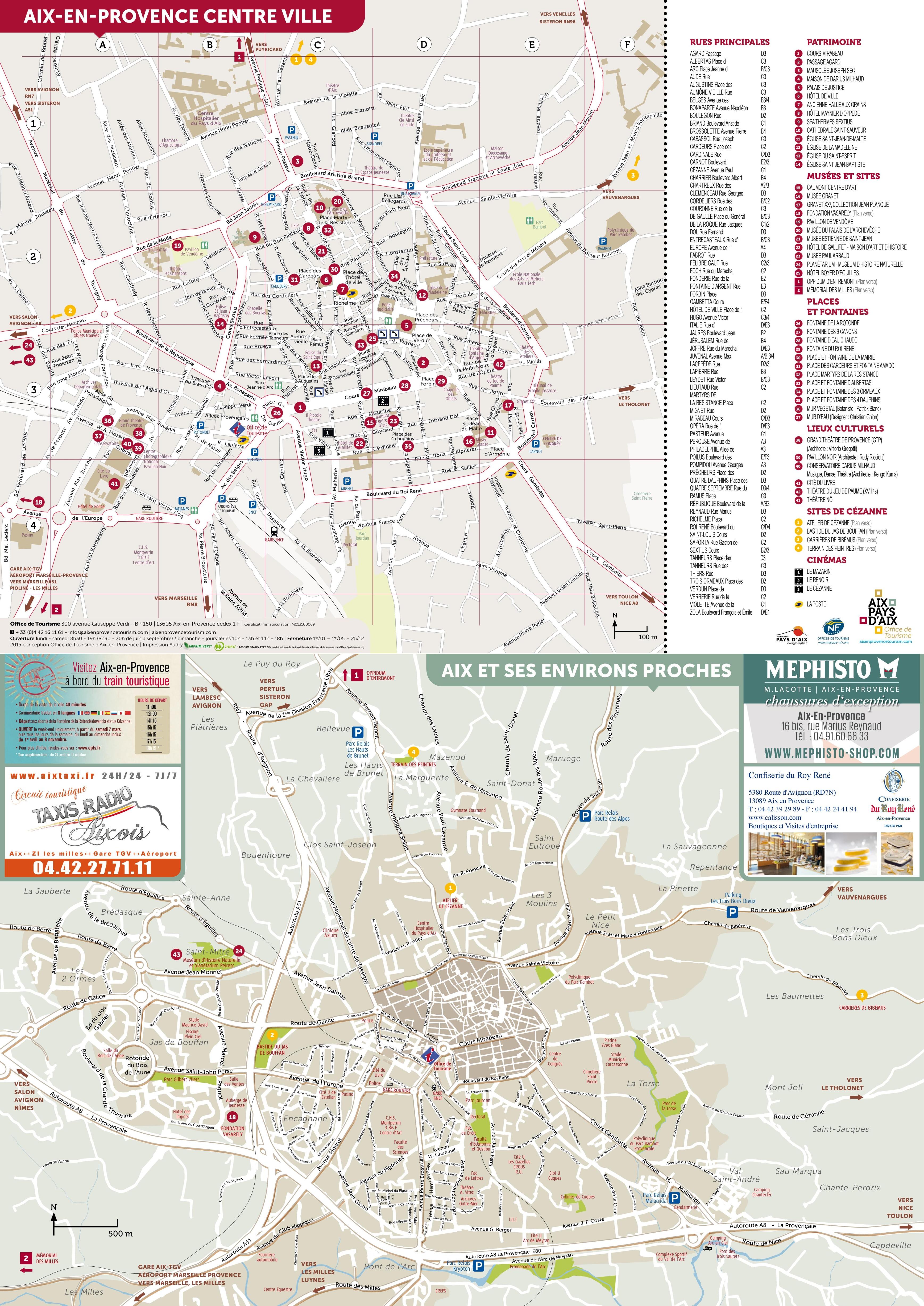 AixenProvence tourist map