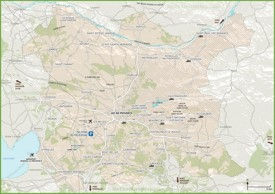Map of surroundings of Aix-en-Provence