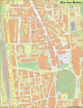 Aix-les-Bains City Center Map
