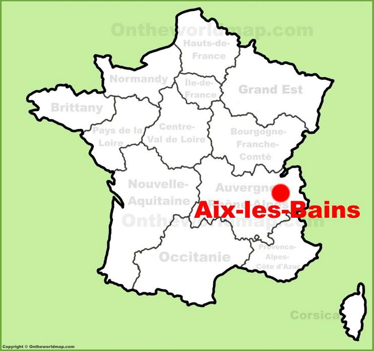 Aix-les-Bains location on the France map
