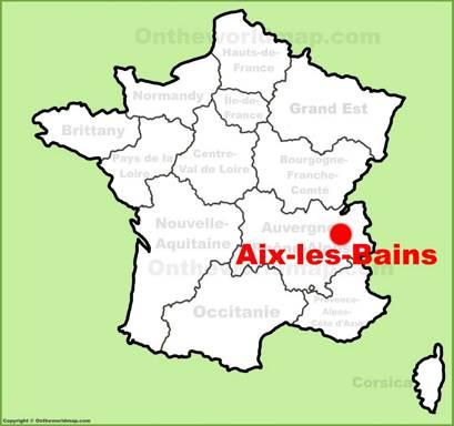 Aix-les-Bains Location Map