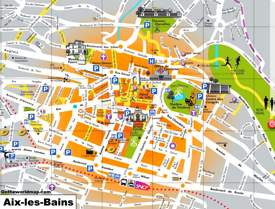Aix-les-Bains Sightseeing Map