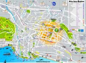 Aix-les-Bains Tourist Map