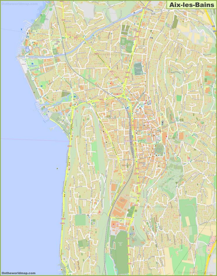 Detailed Map of Aix-les-Bains