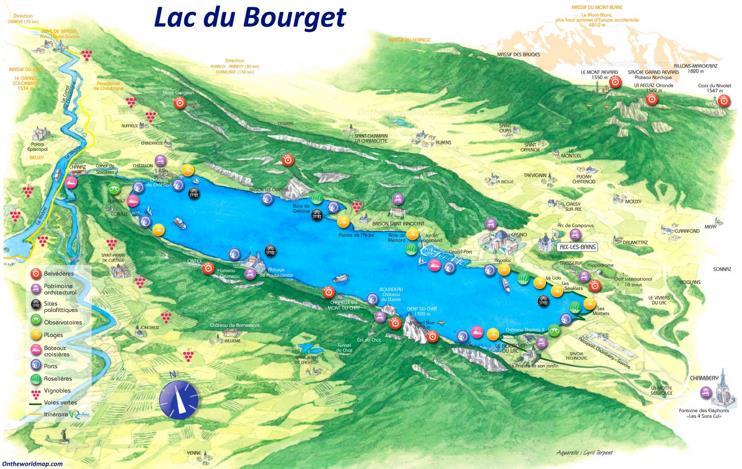 Lac du Bourget Tourist Map