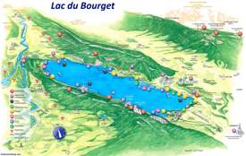 Lac du Bourget Tourist Map