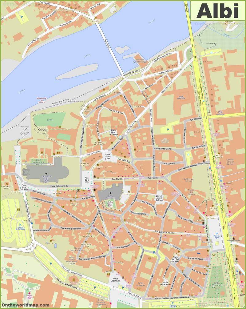 Albi City Center Map