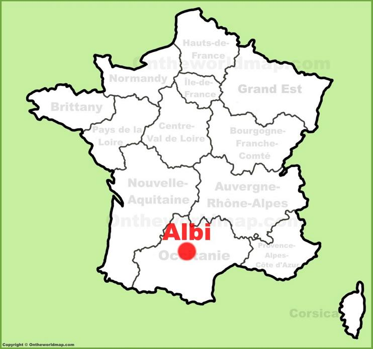 Albi location on the France map