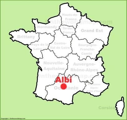 Albi Location Map