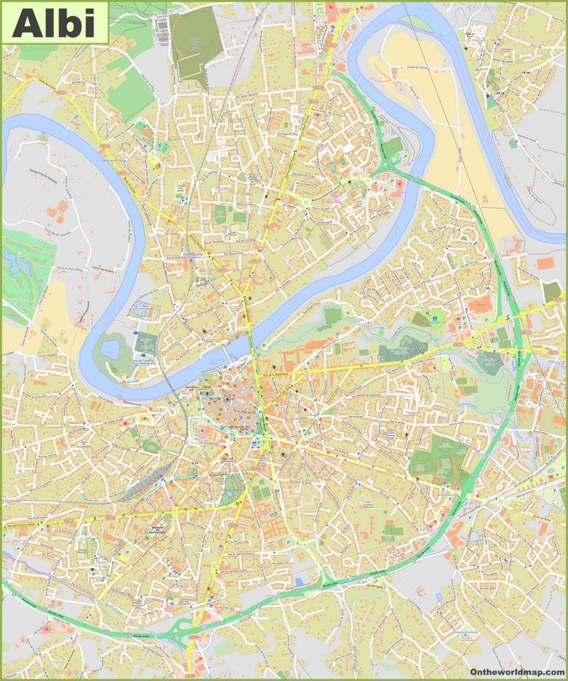 Map of Albi