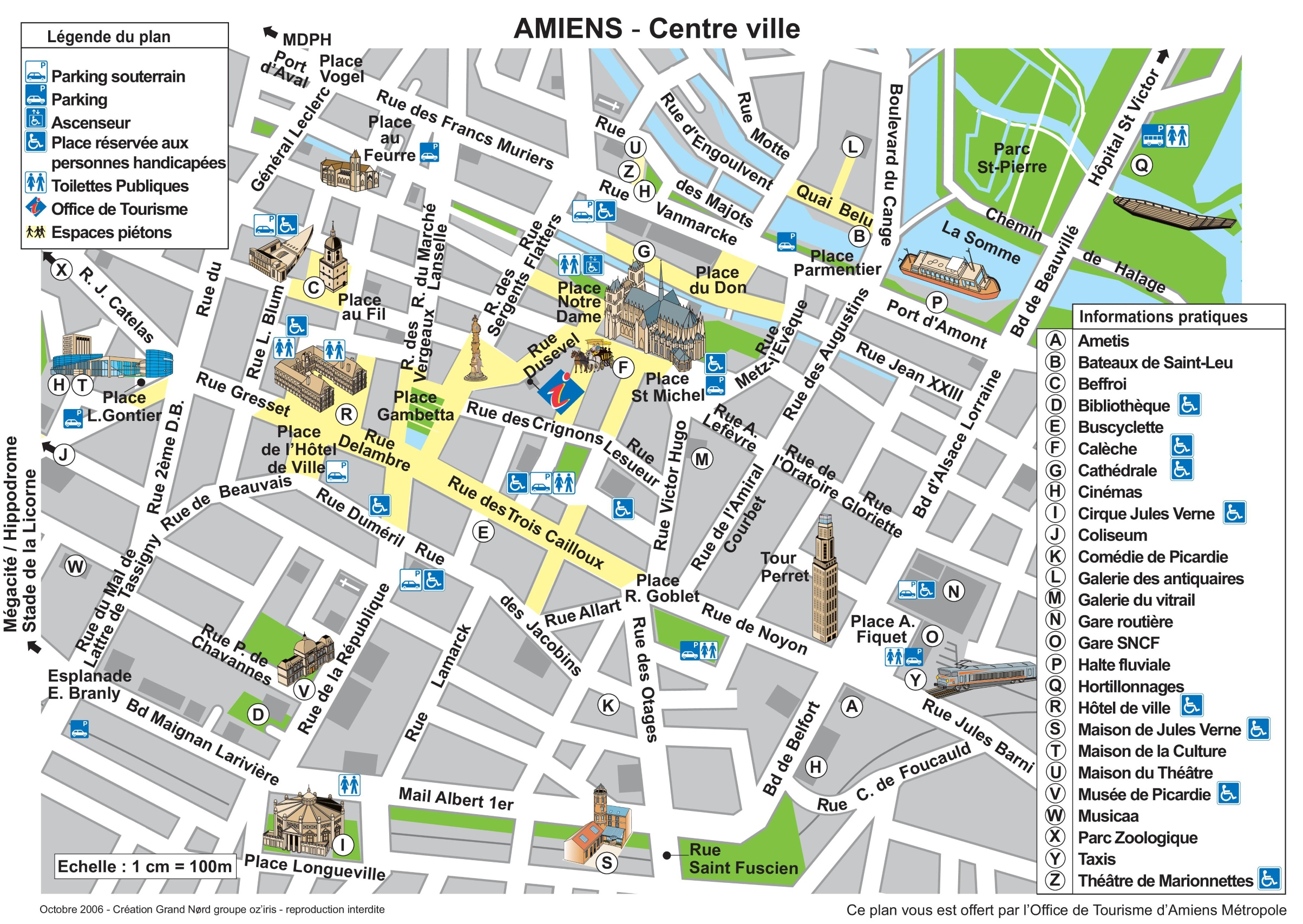 Amiens city center map
