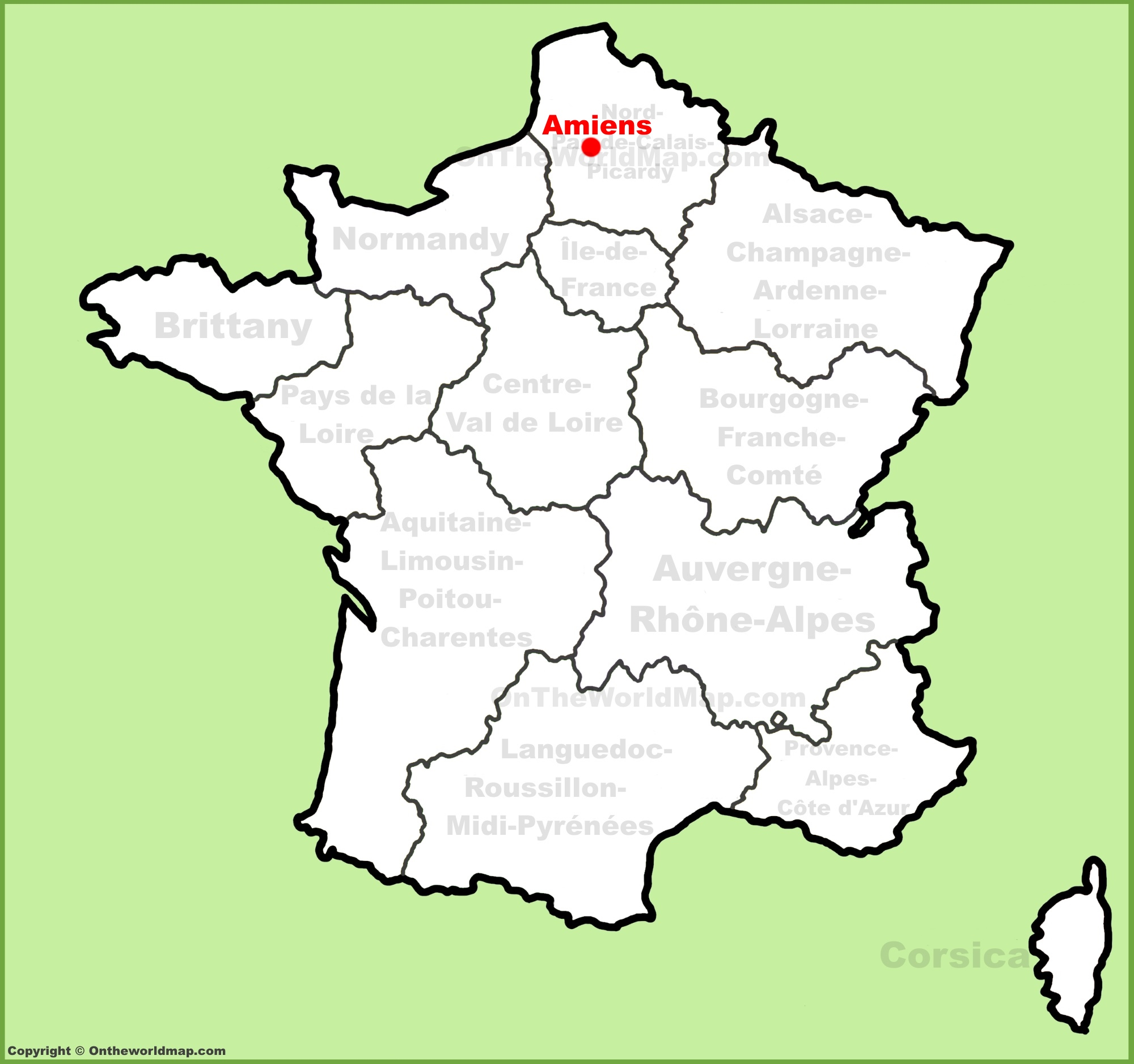 amiens location on the france map. Black Bedroom Furniture Sets. Home Design Ideas