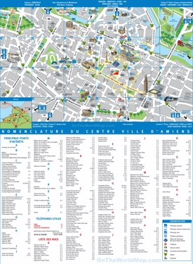 Amiens tourist map