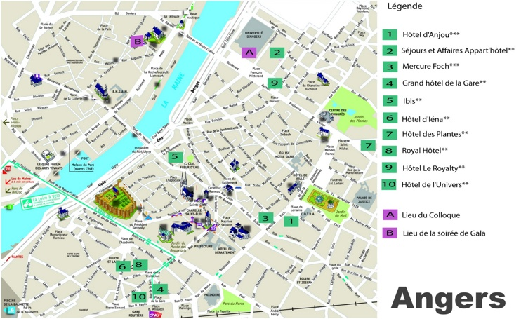 Angers hotel map