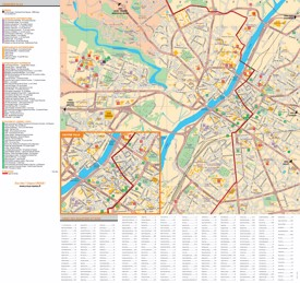 Angers tourist attractions map
