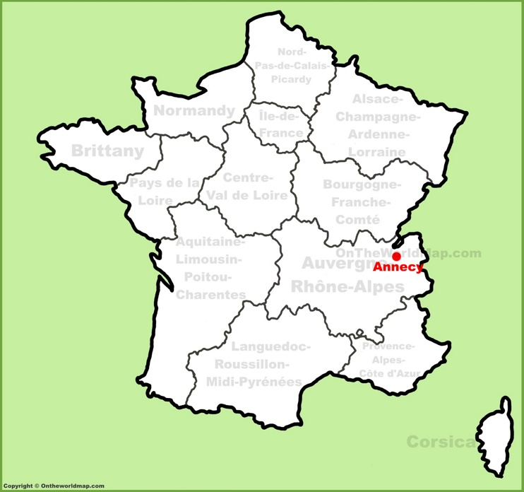 Annecy location on the France map