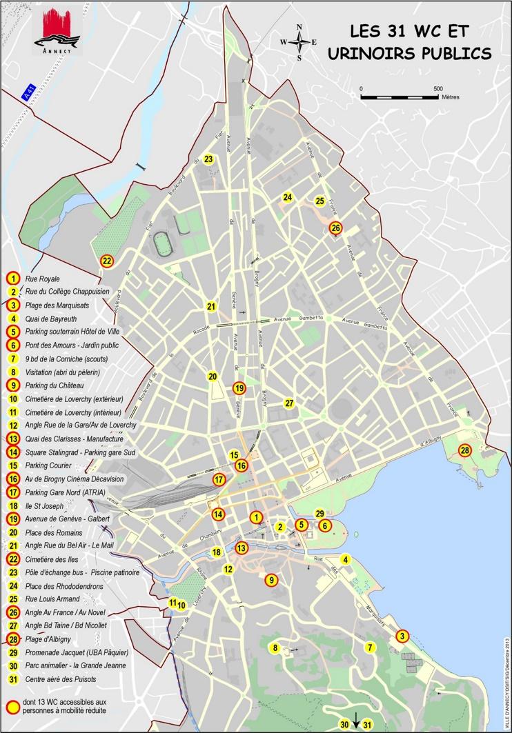 Annecy public toilet map