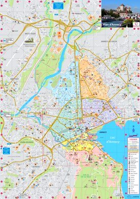 Annecy tourist attractions map