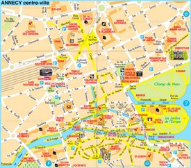 Annecy tourist map
