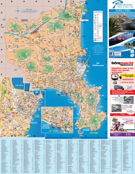 Antibes sightseeing map