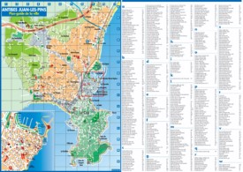 Antibes tourist map