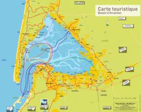 Arcachon Bay Tourist Map