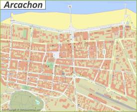 Arcachon City Center Map