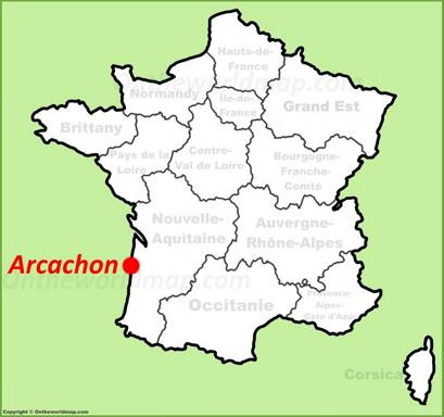 Arcachon Location Map