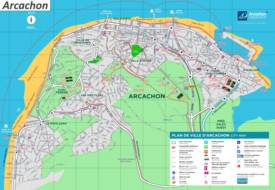 Arcachon Tourist Map
