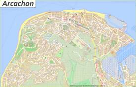 Detailed Map of Arcachon